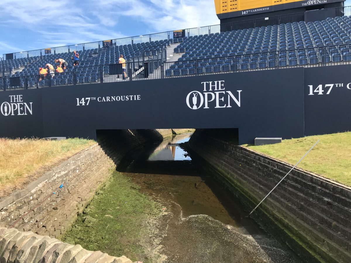 Mabey designs and installs two new bridges for The British Open at Carnoustie