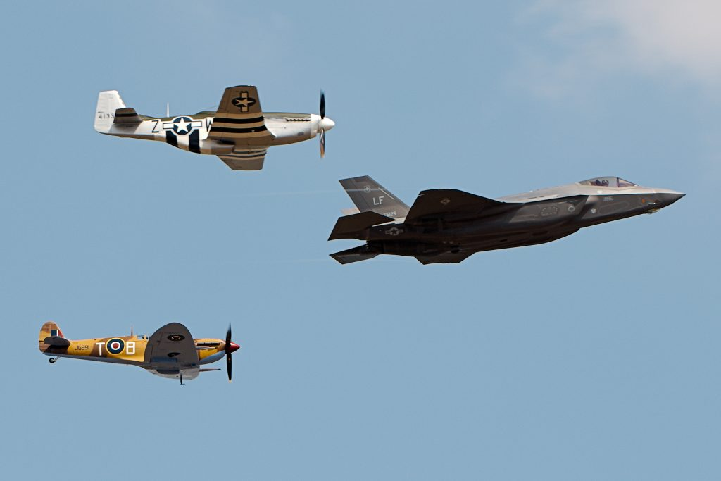 F35 Mustang and Spitfire - Photo by Airwolfhound