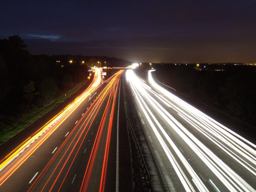 M4 at Night - Photo by Paulio Geordio