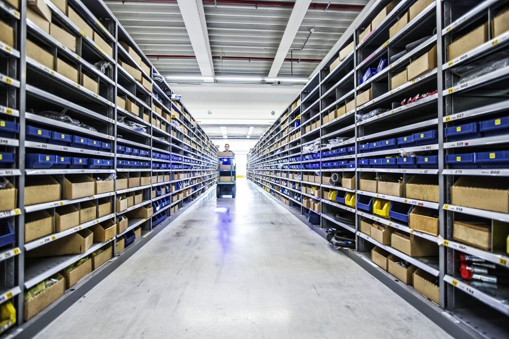 The EMEA warehouse of spare parts in Ghent, Belgium