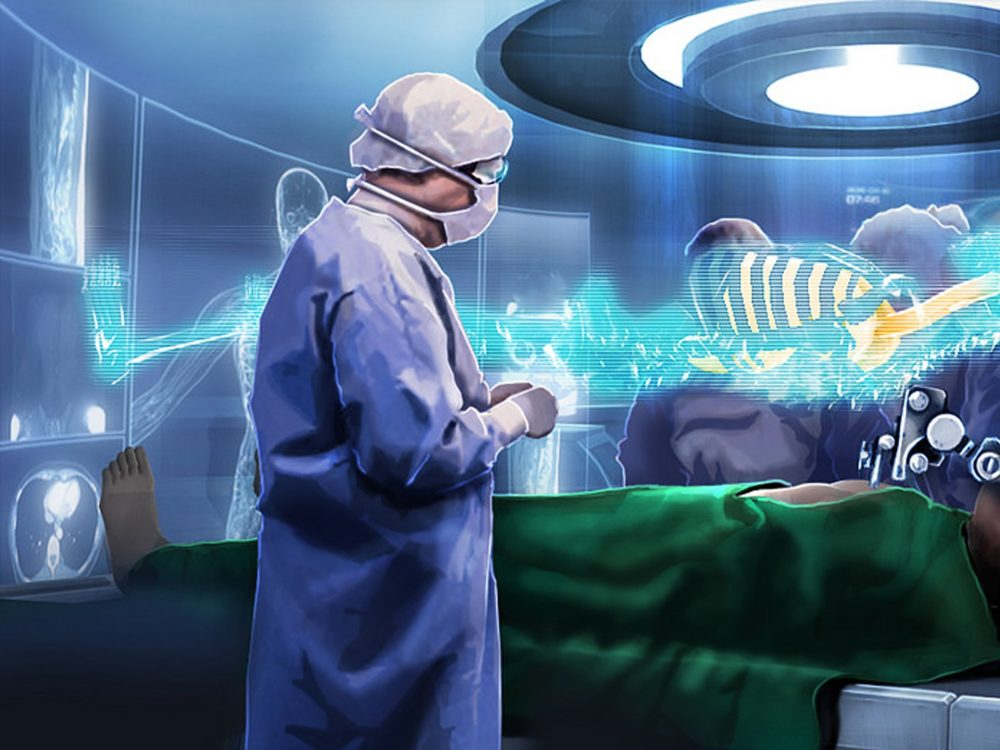 Hologram aided surgery