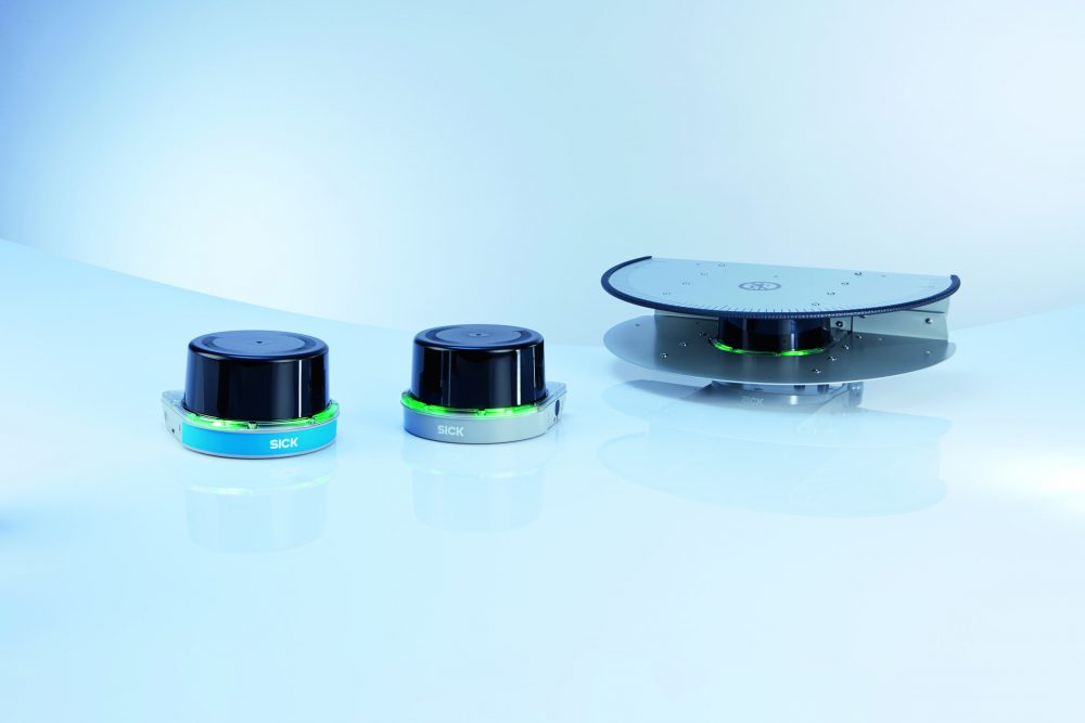 The SICK LMS and MRS LiDAR sensors achieve high-precision reliable distance sensing and ranging