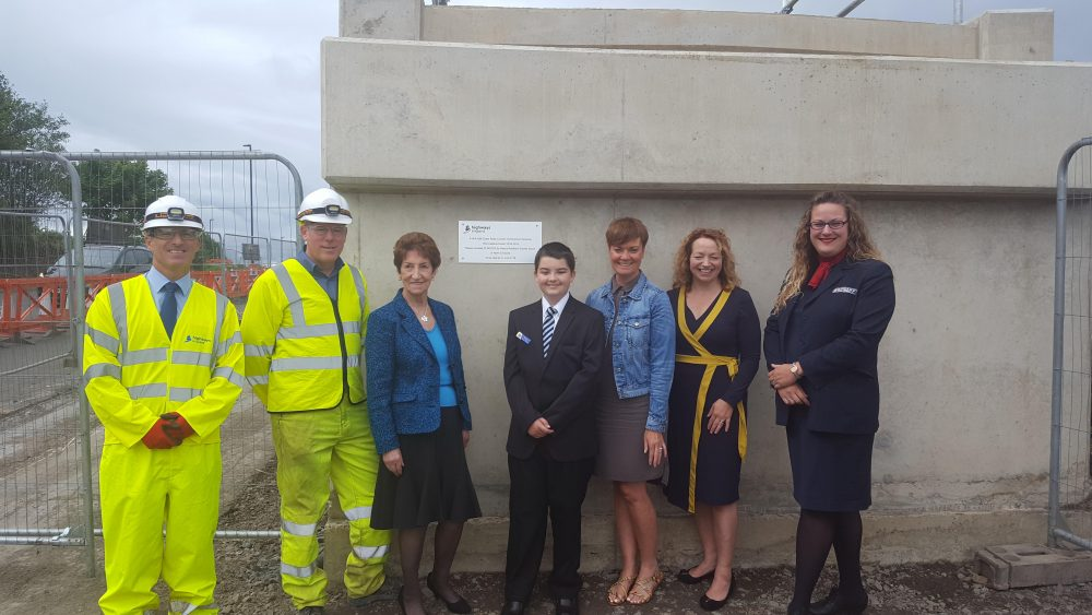 A19 triple decker roundabout finished off with a time capsule