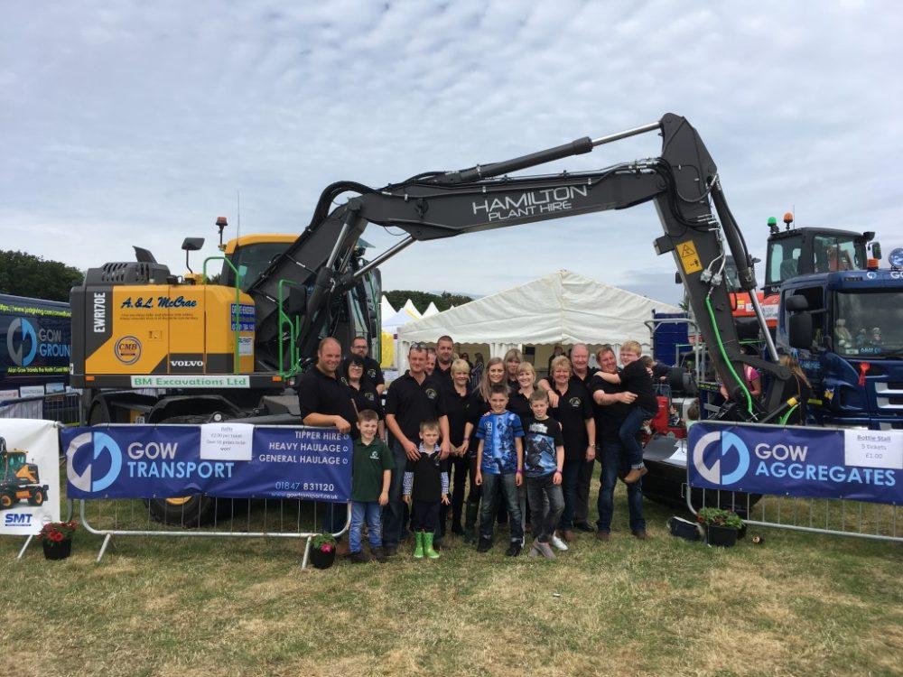 Volvo excavator completes the NC500 500 mile race around Scotland