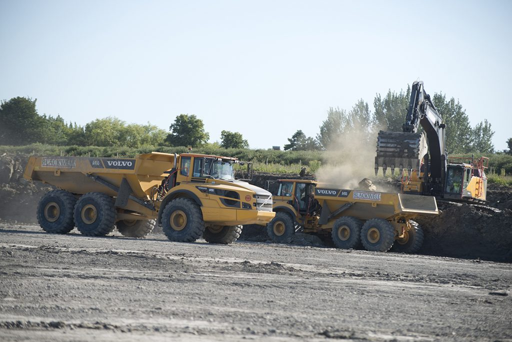 CA Blackwell invests in 24 Volvo Haulers and Excavators for infrastructure project