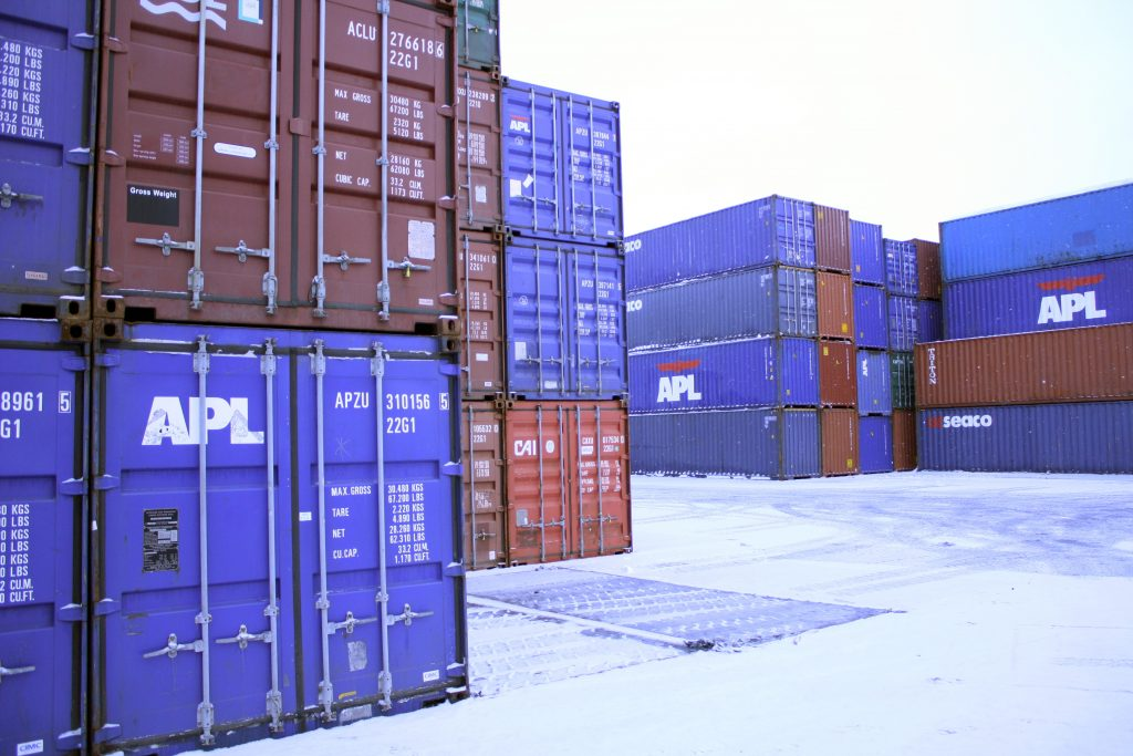 Containers - Photo by Trondheim Havn