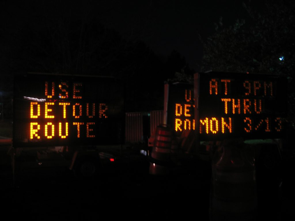 Detour signs - Photo by Nate Steiner