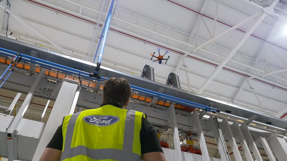 Ford introduces Inspection Drones to keep Engine Plant workers safe