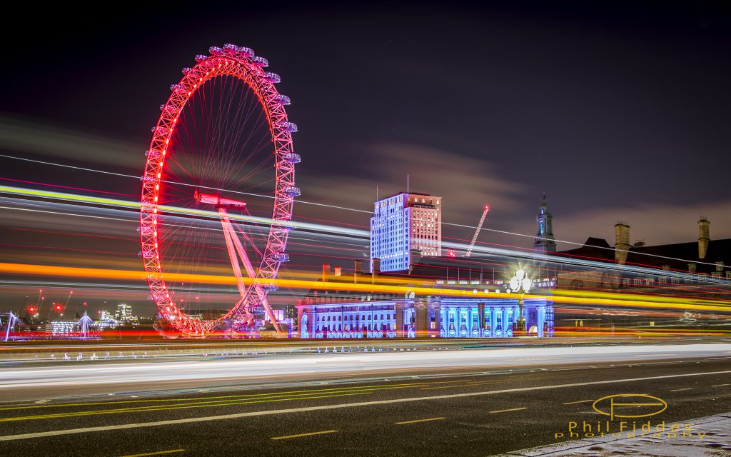 London at Night - Photo by Phil Fiddes