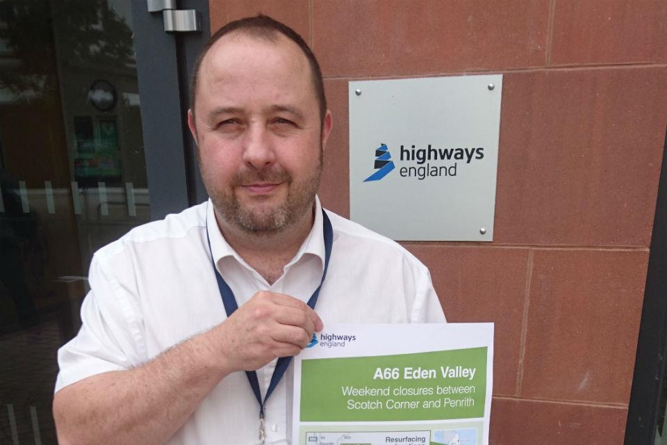 Highways England's A66 Eden Valley project manager Steve Mason