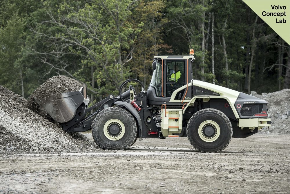 Prototype LX1 electric hybrid wheel loader