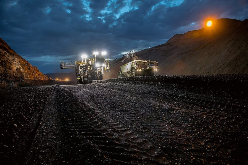 Surface miners from Wirtgen extract commodities in a selective operation.