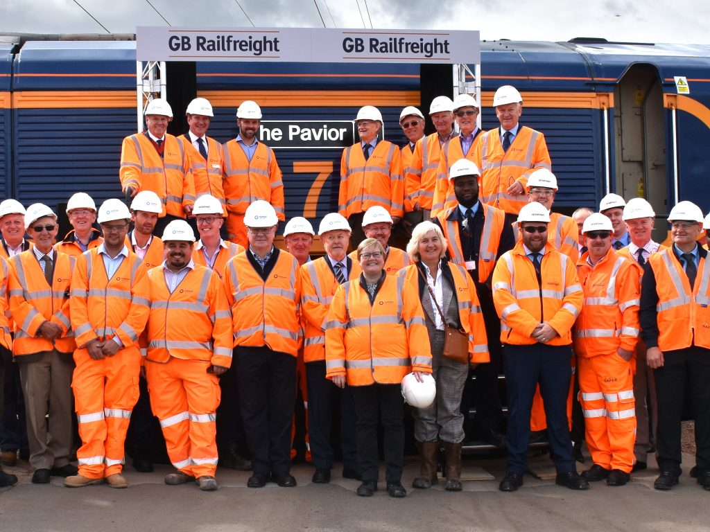 GB Railfreight and The Worshipful Company of Paviors christen 'The Pavior'
