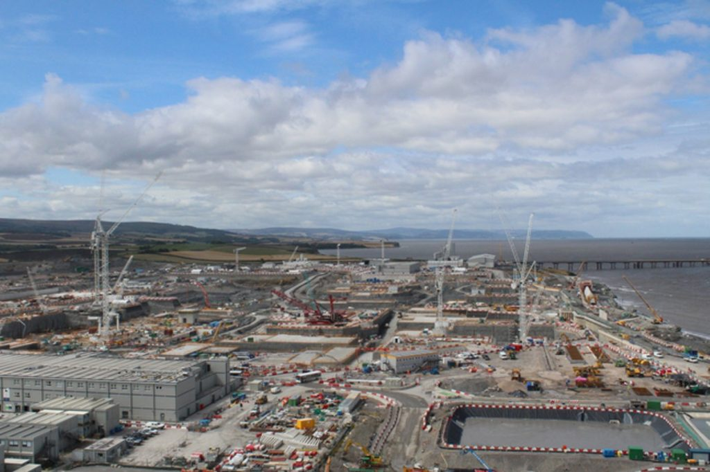Hinkley Point C construction during August 2018