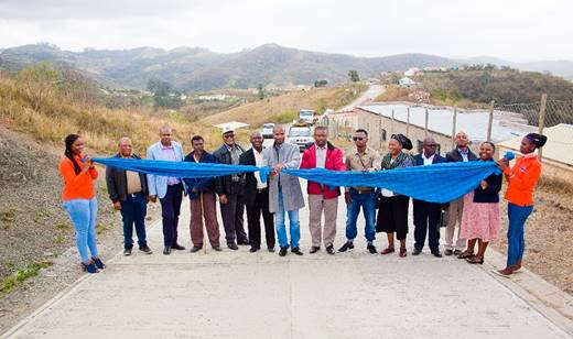 NEW ROADS: Access roads in Ndwalane and Caguba villages near Port St Johns have been completed.