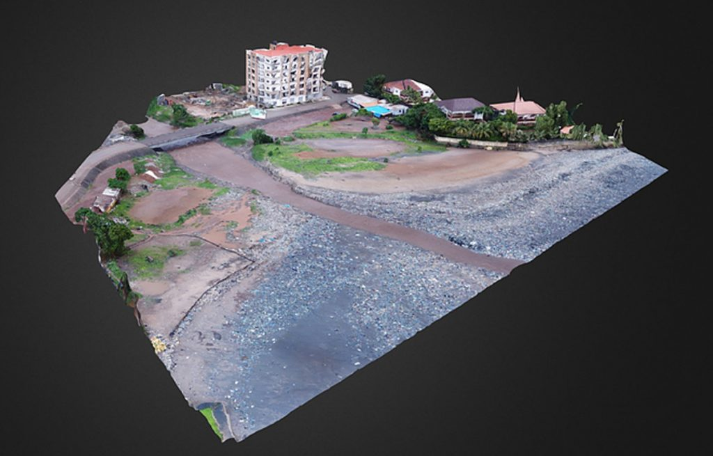 3D-images of a possible location for a renewable hybrid system in Conakry