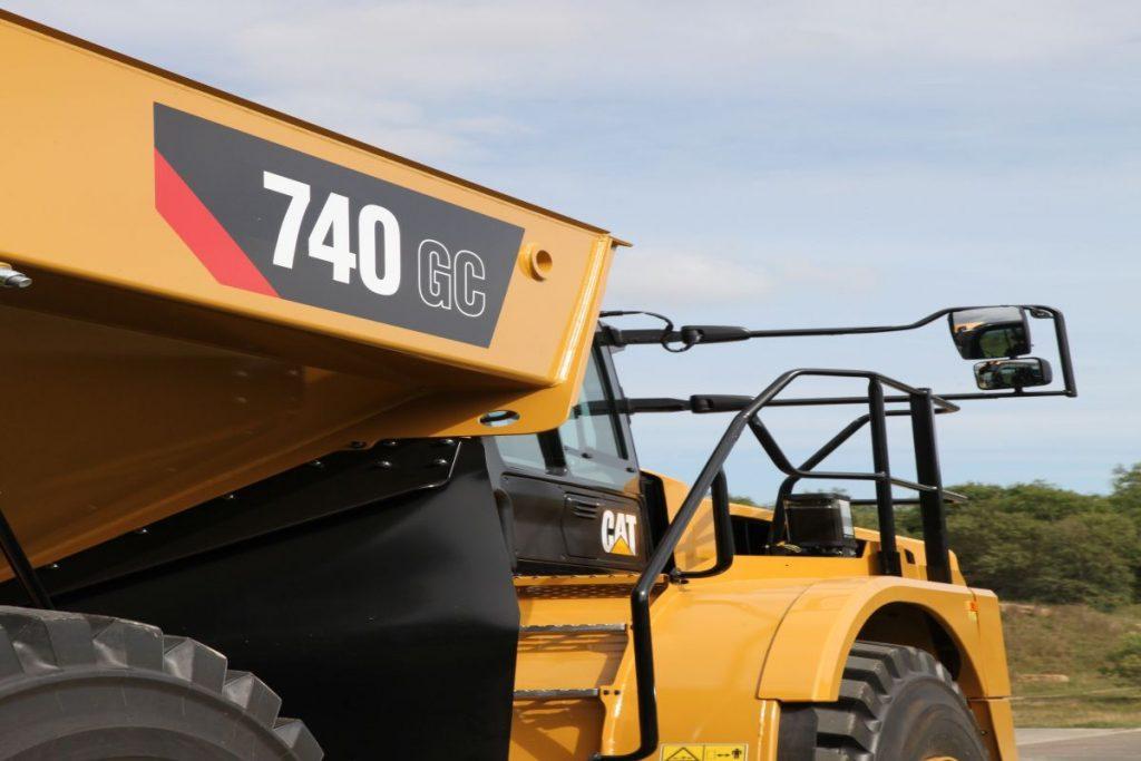 740 GC articulated dump truck expands the Caterpillar hauler lineup