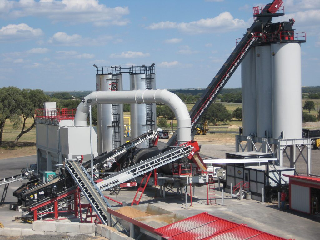 Asphalt Drum Mixers Inc. offers asphalt plant add-ons for greater customizability, uptime and efficiency. The components help with ease of operation and can alert operators to small problems before they grow and become more costly. Photo Courtesy of Asphalt Drum Mixers