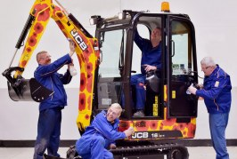 JCB auctions off customised digger for The Royal British Legion