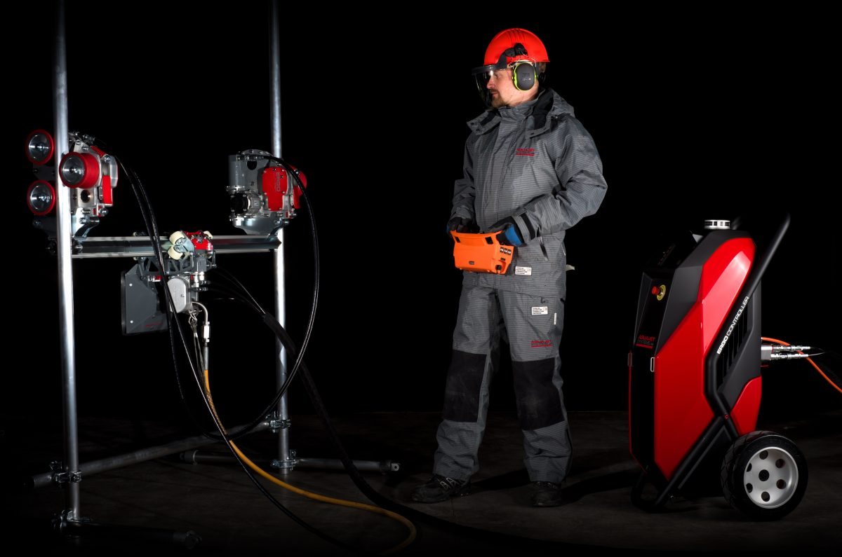 Aquajet Systems introduces the Ergo System, a compact hydrodemolition machine designed for easy use in tight spaces.