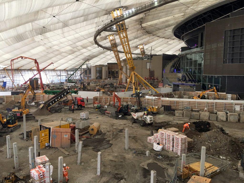 Construction at the O2 - Photo by David Jones