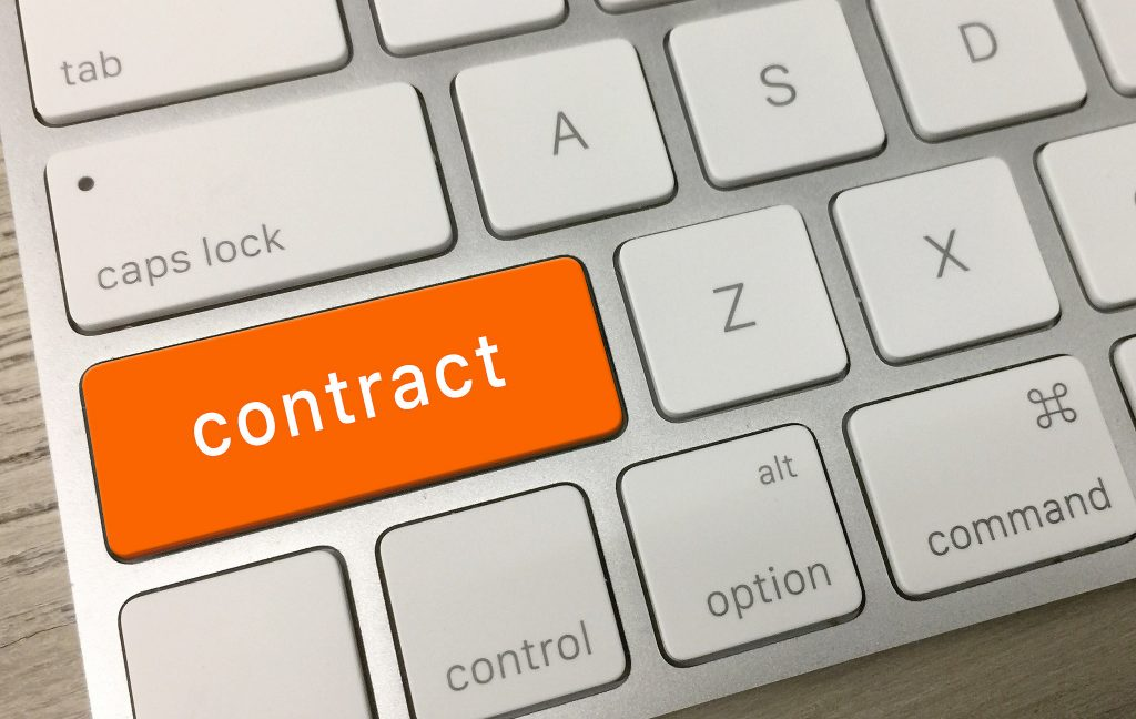 Contract Keyboard - Photo by Mike Lawrence