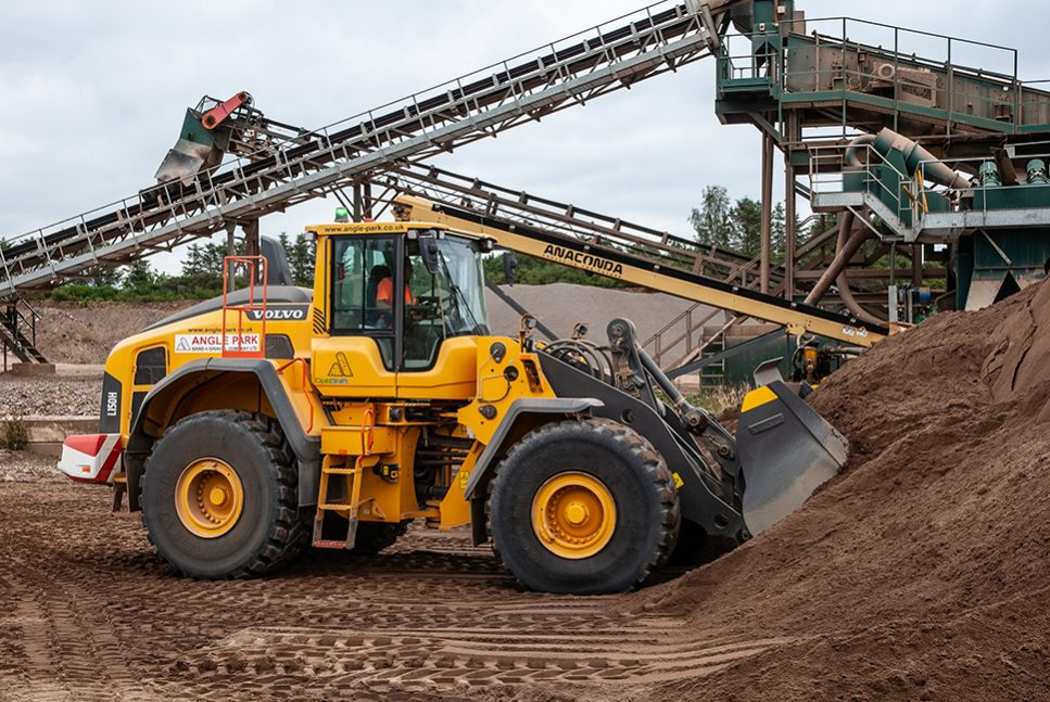 Volvo loader keeps production flowing at Angle Park Sand and Gravel