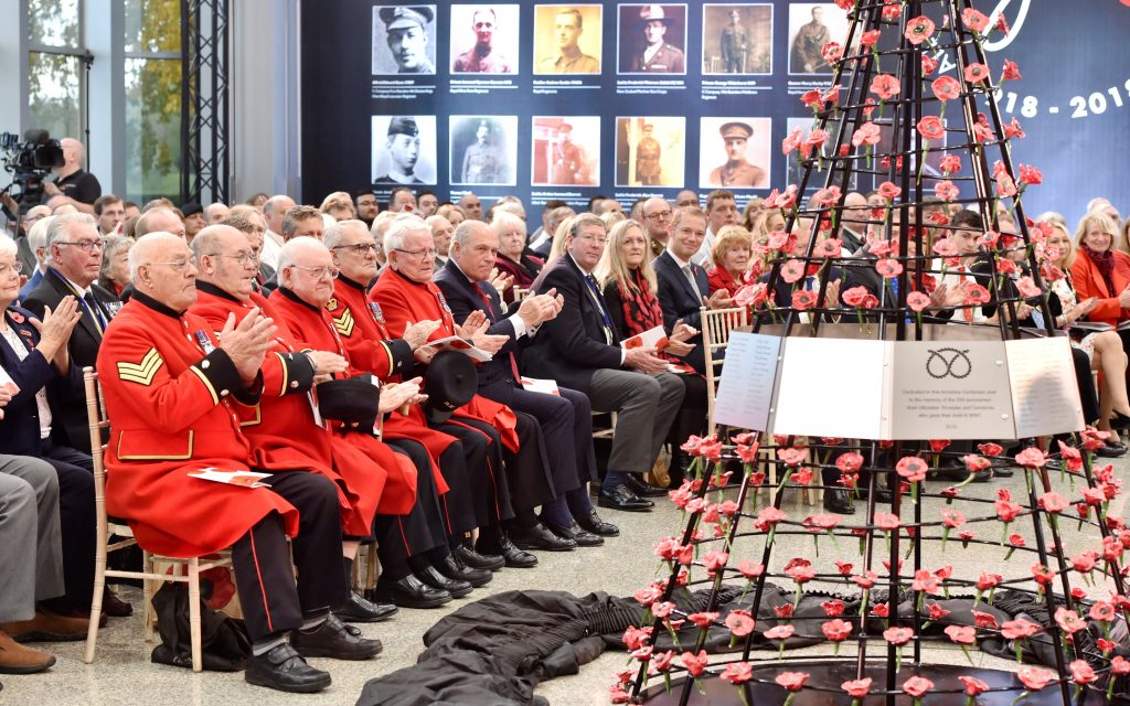 Chelsea Pensioners join JCB for unique Armistice commemorations