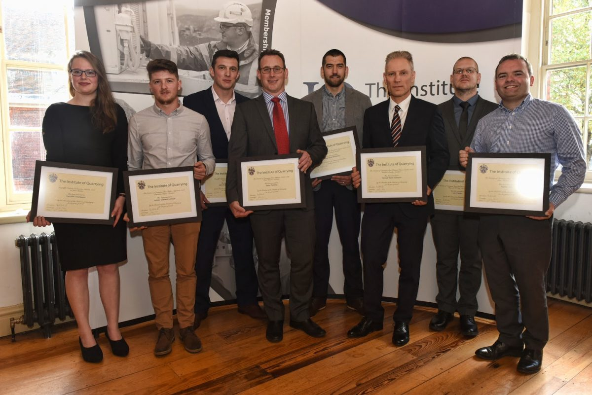 Institute of Quarrying Student Awards presented at the Tower of London