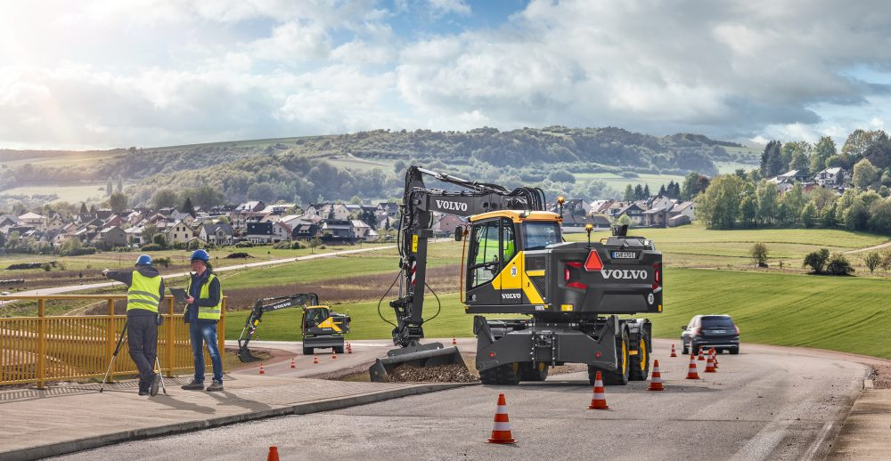 Volvo wheeled excavators available in US through Sourcewell and HGACBuy