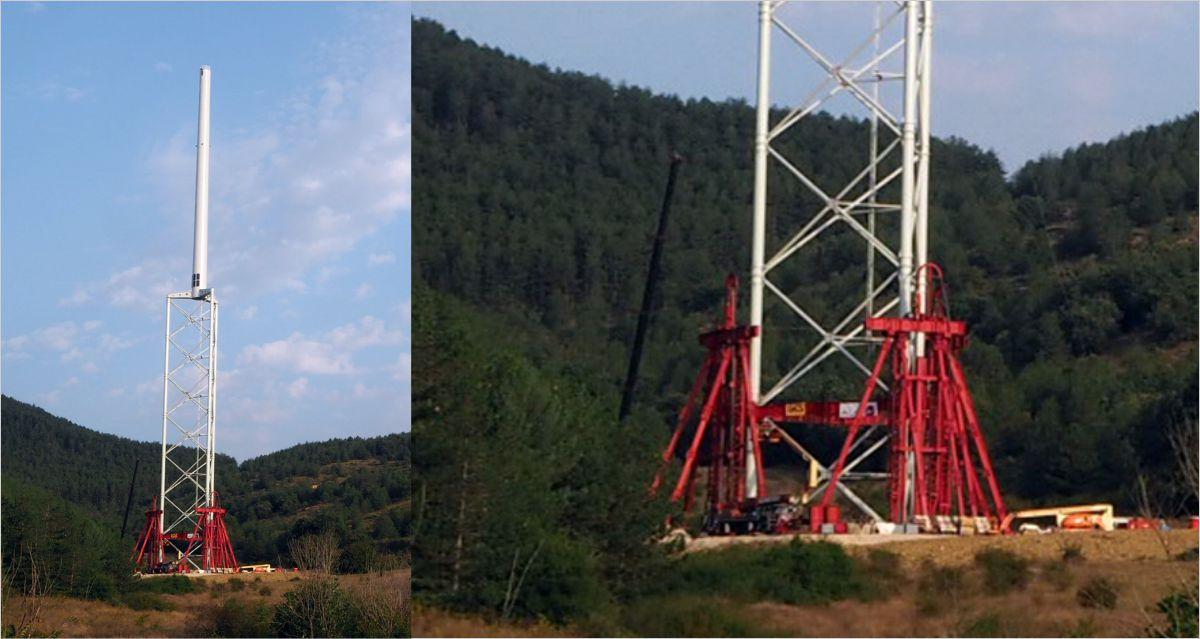 Heightening of the Nabralift self-erecting tower.