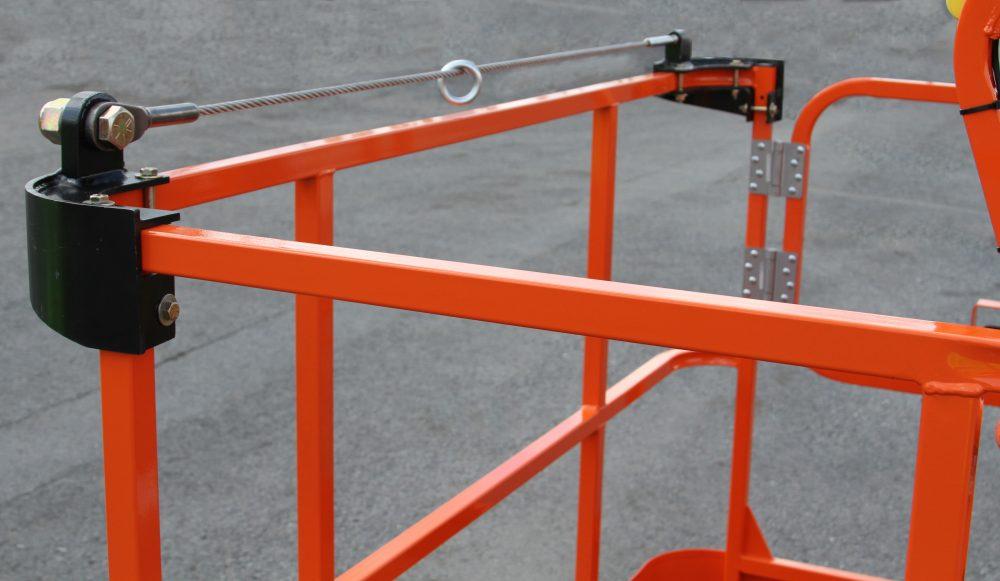 JLG external bolt-on fall arrest system allows operators to work outside the platform
