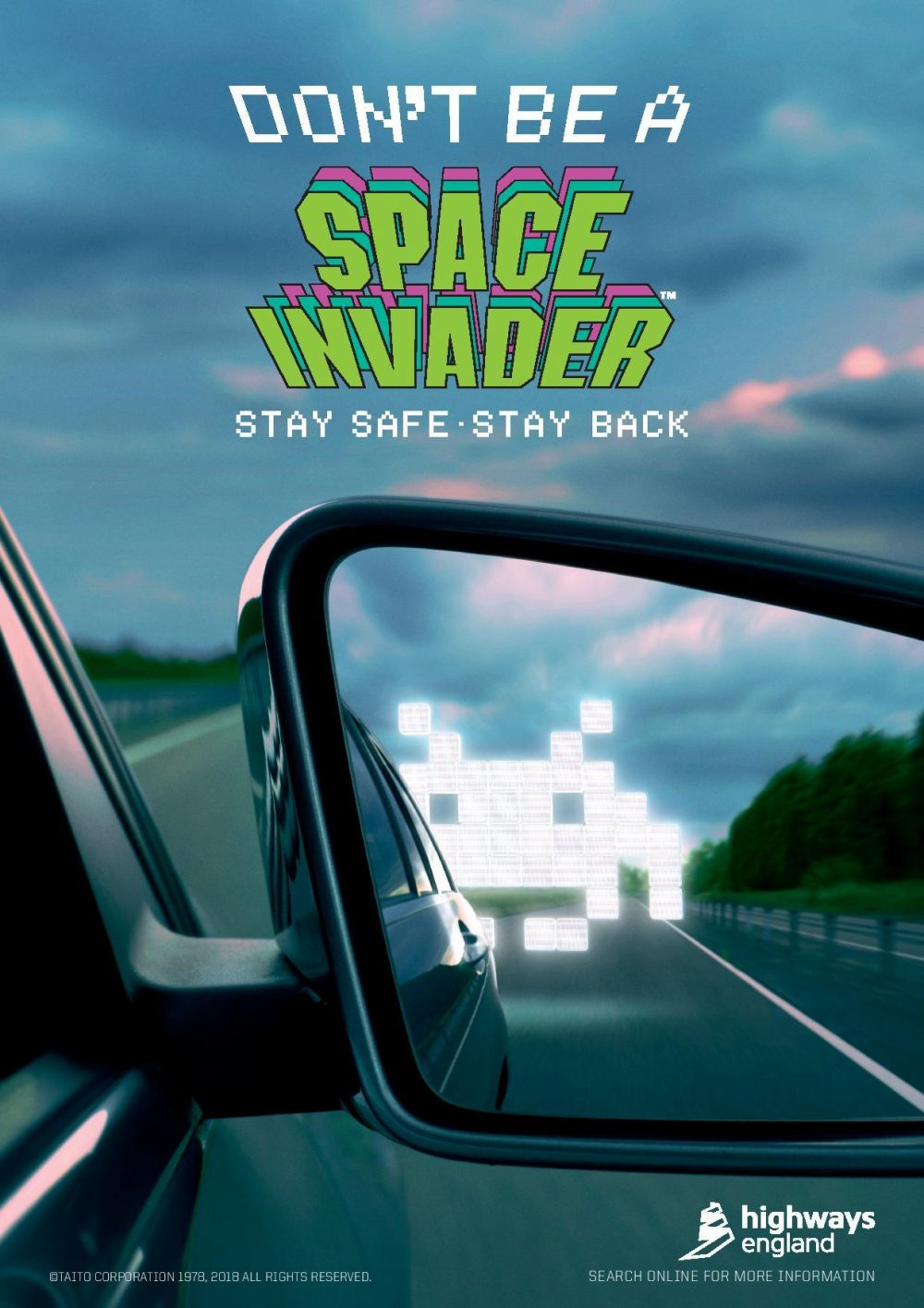 The 'Don't be a Space Invader - stay safe, stay back' campaign.