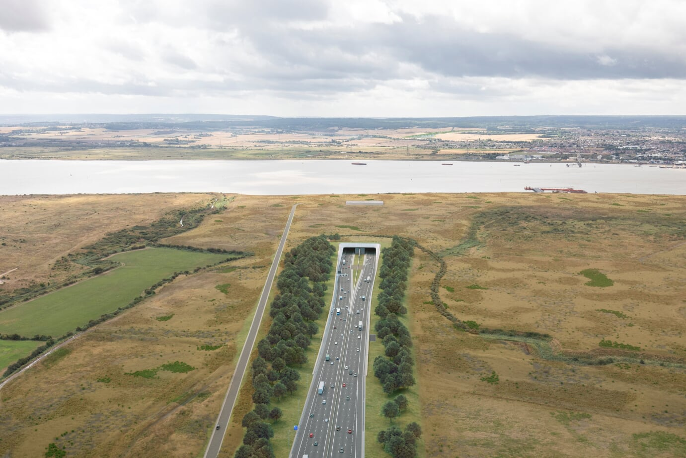How the northern portal of the Lower Thames Crossing, in Essex, will look