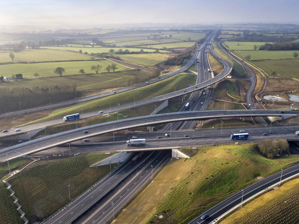 Motorway Bridge - Photo by Highways England