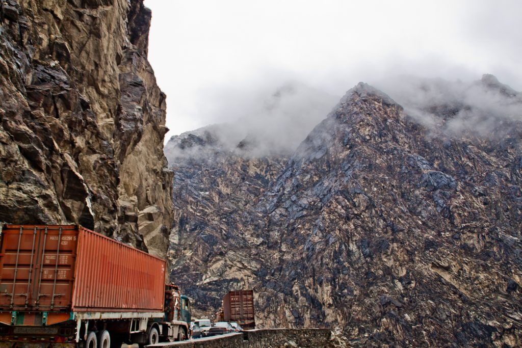 Mountain Road between Pakistand and Kabul - Photo by Peretz Partensky