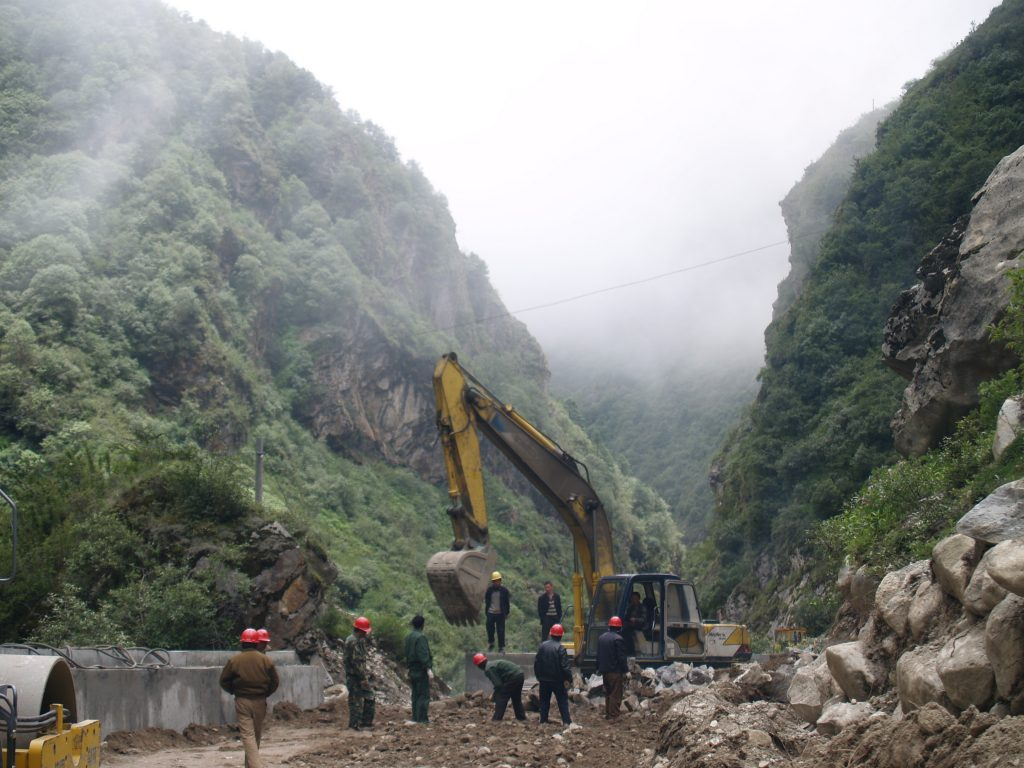 Nepal roadworks - Photo by Steve Hicks