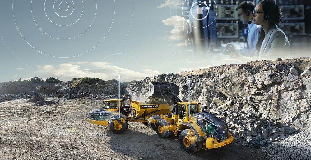 Volvo A30F machines are used to transport blasted rock and soil in Albania