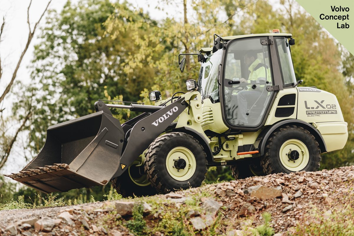 VolvoCE unveils electric compact wheel loader concept