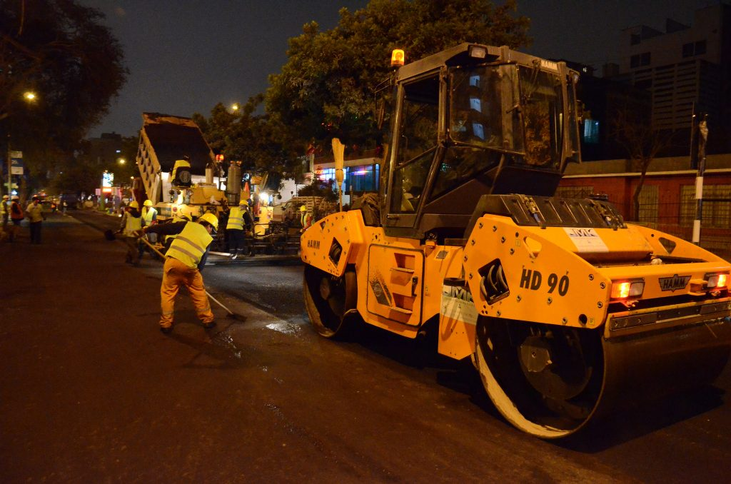 slurry surfacing - Photo by Municipalidad de Miraflores