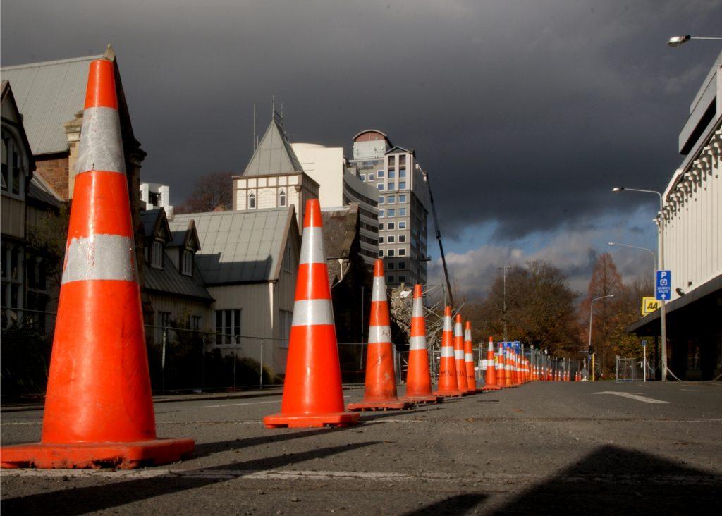 Traffic Cones - Photo by Bernard Spragg NZ