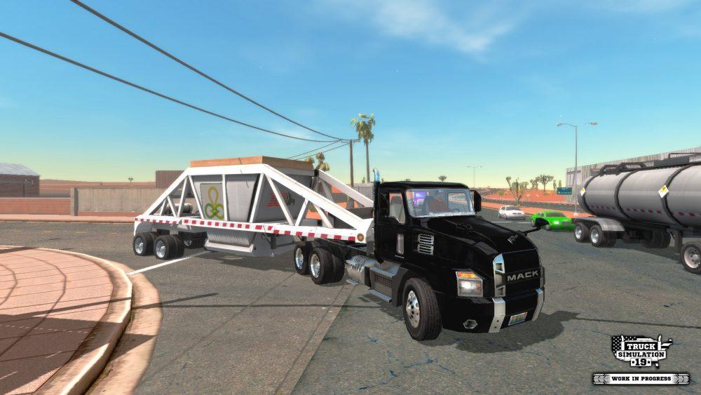 Truck Simulation 19 includes MACK Trucks