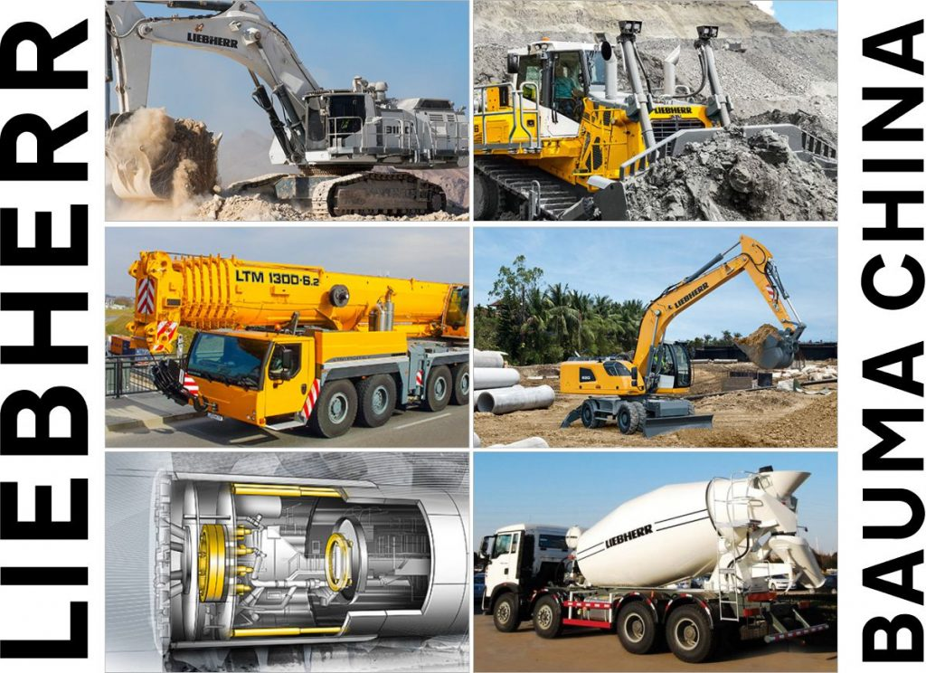 During Bauma China 2018, Liebherr presents a selection of its construction equipment and its component's product ranges. The Liebherr stands at the Shanghai New International Expo Centre (SNIEC) are located outdoors, booth No. B12 and indoors in hall N4, booth No. 524.