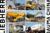 Liebherr showcasing their Construction Equipment at Bauma China 2018