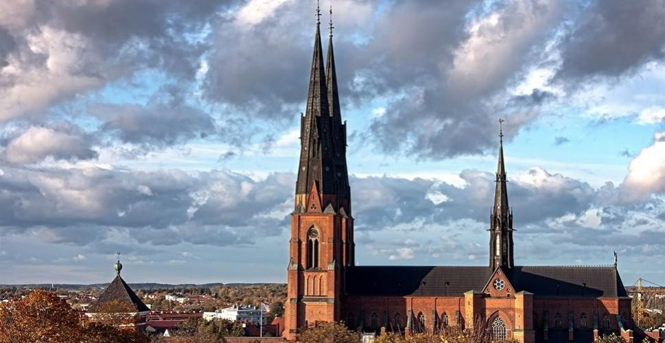 A view of the cathedral in Uppsala, Sweden, the year's OPCC winner