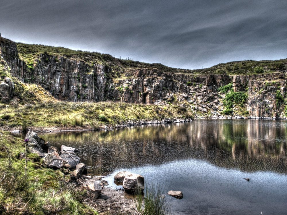 A disused quarry in the North of England.
