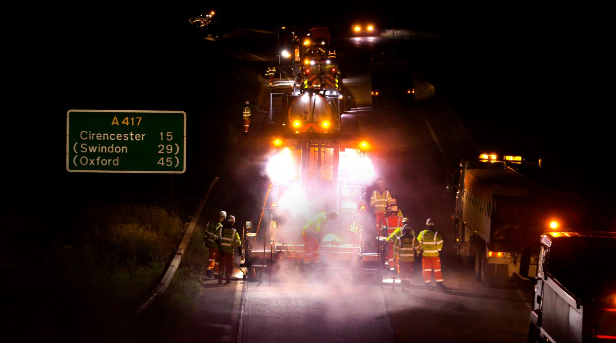 Ringway secures 8 year £16m extension to A417 and A419 maintenance contract