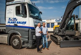 Portsmouth based AJ and MJ Plant Sales goes all out for Volvo Excavators