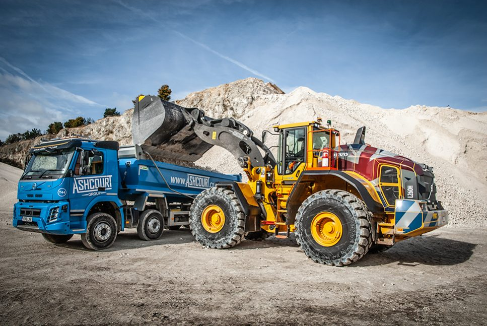 Volvo Shovel takes over as Yorkshire Quarry's prime mover as production is ramped up