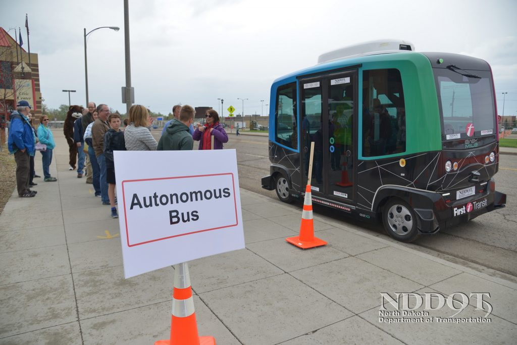 Autonomous Bus - Photo by NDDOT